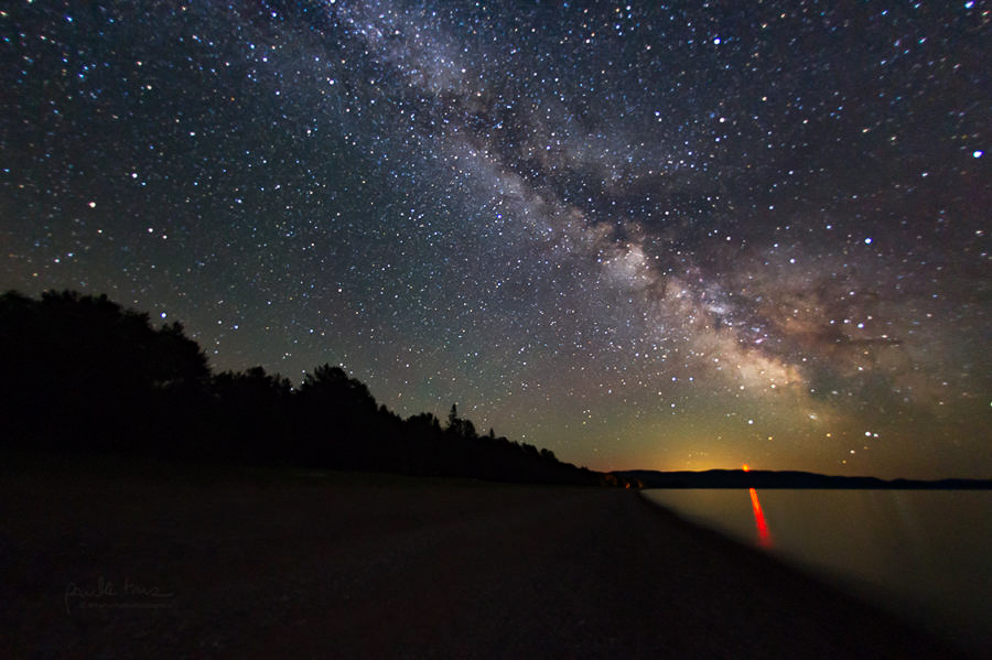 Night Sky taken at Agawa Bay Campground's beach at Lake Superior Provincial park overlooking lake. PC: Paula Trus, follow on Instagram @thenorthviewmediagroup