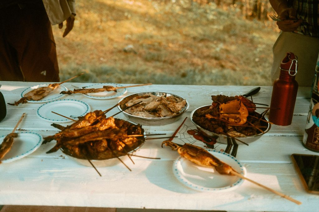 BBQ Meals at Sibo's Bell Tent Glamping Site in Verona, Ontario
